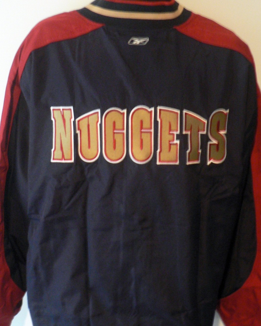 cheap for discount 769b5 8e272 Denver Nuggets Basketball Warm Up Zip Old and 50 similar items