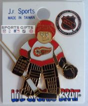 DETROIT REDWINGS GOALIE HOCKEY JERSEY HAT PIN OLD NHL LICENSED FREE SHIP... - $13.79