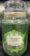 Yankee Candle LUCKY SHAMROCK Large Jar 22 Oz Green Housewarmer New Wax F... - $28.66
