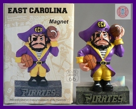 East Carolina Pirates  Football Basketball 3 D Magnet  - $8.26