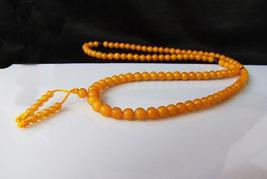 27'' Tibetan Yellow jade Meditation Yoga Prayer Beads Mala image 2