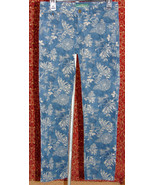 RALPH LAUREN dark blue floral denim skinny jeans 4 (T39-02B8G) - $19.78