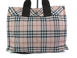 Auth Burberry London Blue Label Nylon Canvas Pinks Hand Bag BH15621L - $129.00