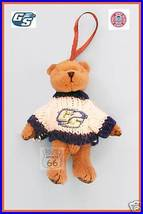 GEORGIA SOUTHERN SMALL PLUSH BEAR GOOD LUCK ORNAMENT NW - $12.54