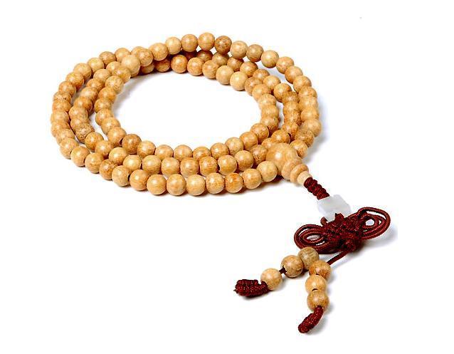 Tibetan yellow jade Meditation 108 Prayer Beads Mala