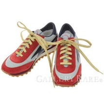 MARC JACOBS Sneakers Astor Jogger Nylon Suede Leather Size 35 Authentic ... - $234.38