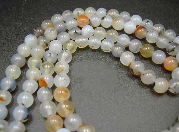 "34"" Tibetan Translucent White Jade Prayer Beads Mala"