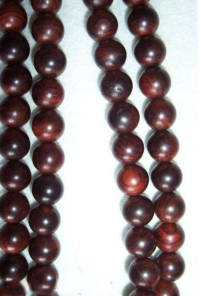 Tibetan natural red sandalwood Meditation 108 Prayer Beads M