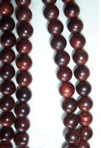 Tibetan natural red sandalwood Meditation 108 Prayer Beads M image 1