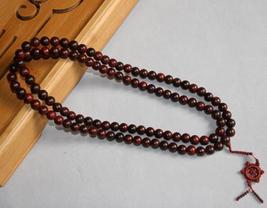 Tibetan natural red sandalwood Meditation 108 Prayer Beads M image 2