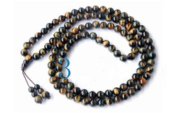 "34"" A Grade Blue Tiger's Eye Tibetan Prayer Beads Mala image 2"