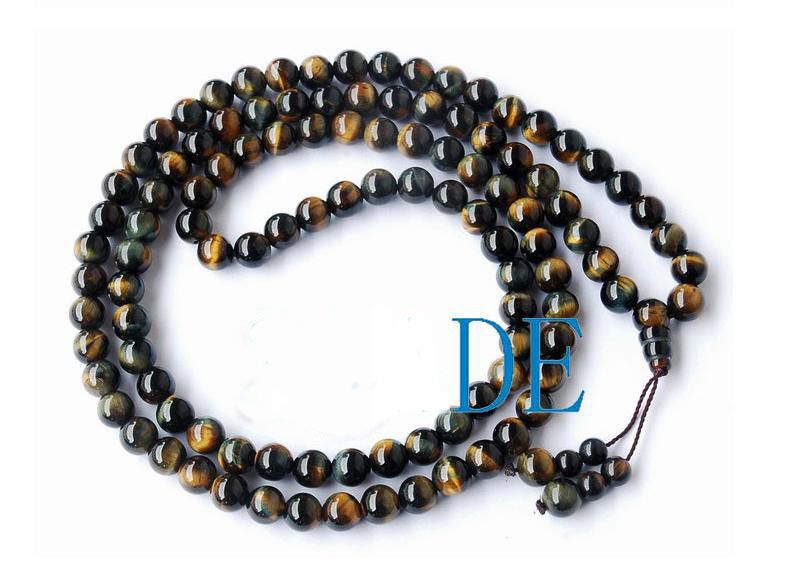 "34"" A Grade Blue Tiger's Eye Tibetan Prayer Beads Mala"