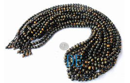 "34"" A Grade Blue Tiger's Eye Tibetan Prayer Beads Mala image 3"