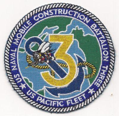 Primary image for US Navy NMCB-3 US Naval Moble Construction Battlion 3 Patch