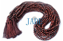 "34"" Tibetan Red Tiger's Eye Gemstone Prayer Beads Mala  image 2"