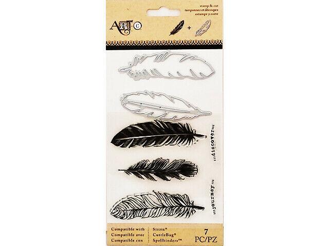 Spellbinders Art-C Feathers Stamp and Die Set #26220