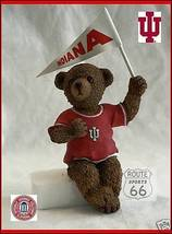 INDIANA HOOSIERS FOOTBALL BASKETBALL FAN BEAR W IU FLAG - $15.51