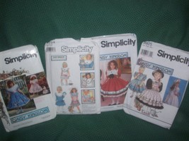 Lot of 4 Daisy Kingdom Sewing Patterns for Little Young Girls Kids  - $13.70