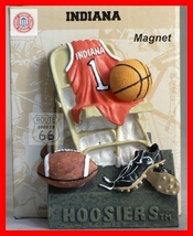 Indiana Hoosiers Free Shipping Football Basketball 3 D Magnet Great Gift Iu - $11.00