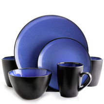 Gibson Elite Soho Lounge Round 16-Piece Dinnerware Set, Blue - $80.29