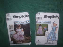Pair of Daisy Kingdom Sewing Patterns for Little Girls Sizes Range 5-10 AA + BB - $16.34
