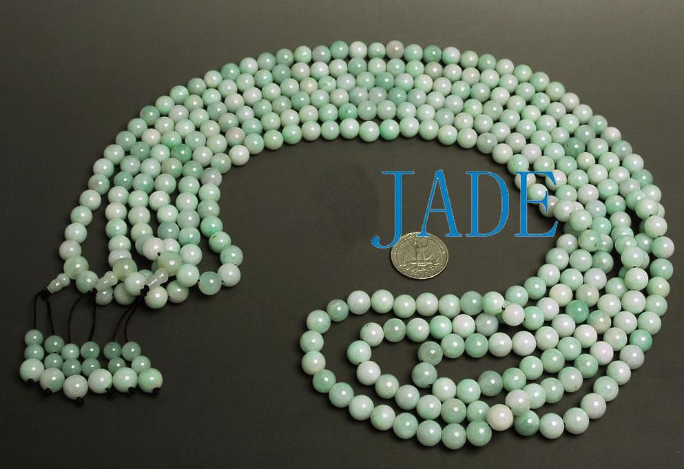 "38"" A Grade Natural Jade / Jadeite Prayer Beads Mala   image 2"