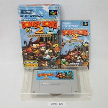Nintendo SNES SUPER DONKEY KONG 2 Boxed Working SFC Games 2003-129 - $12.60