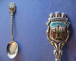 INNSBRUCK AUSTRIA Souvenir Collector Spoon Vintage Collectible ANNA SAULE  - $6.95