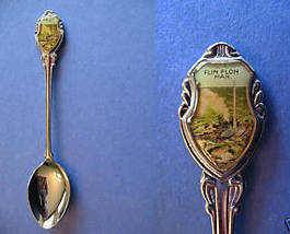 FLIN FLON Manitoba Souvenir Collector Spoon Collectible CITY SKYLINE Vin... - $5.95