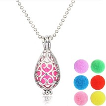 Adecco LLC 1PCS Antique Silver Vines Heart Openable Locket Essential Oil... - $15.06