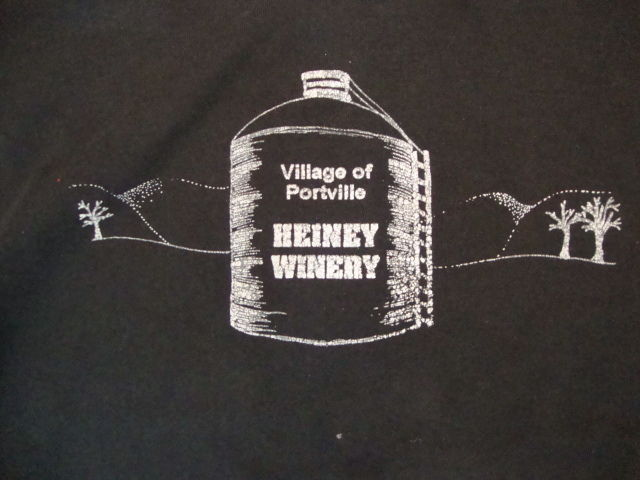 Primary image for Vintage Village of Portville Heiney Winery Tour Souvenir Black T Shirt XL