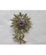 Vintage Francois (Coro) Aurora Borealis Flower Pin / Brooch, 1930s - 1960 - $19.99