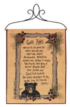 "Country Rustic Whimsical Linda Spivey ""Cabin Rules"" Wall Art Hanging Tap... - $24.74"