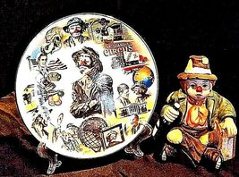 Emmett Kelly Clown Music Box, Plate and Pin AB 536 Vintage 1989 image 3