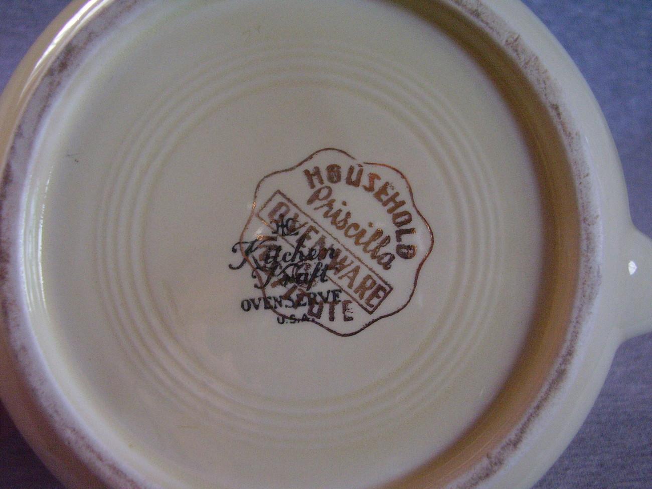Homer Laughlin Kitchen Kraft Priscilla Open Jug Pitcher