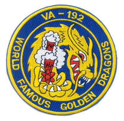 Primary image for US Navy VA-192 Attack Squadron Patch Military Insignia Golden Dragons Patch