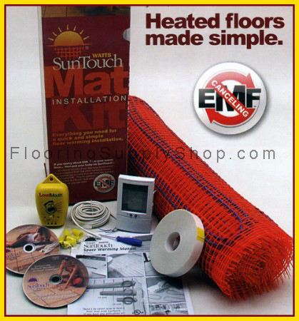 Radiant Floor Heating Mat Kits 50 sq - 3ft Wide