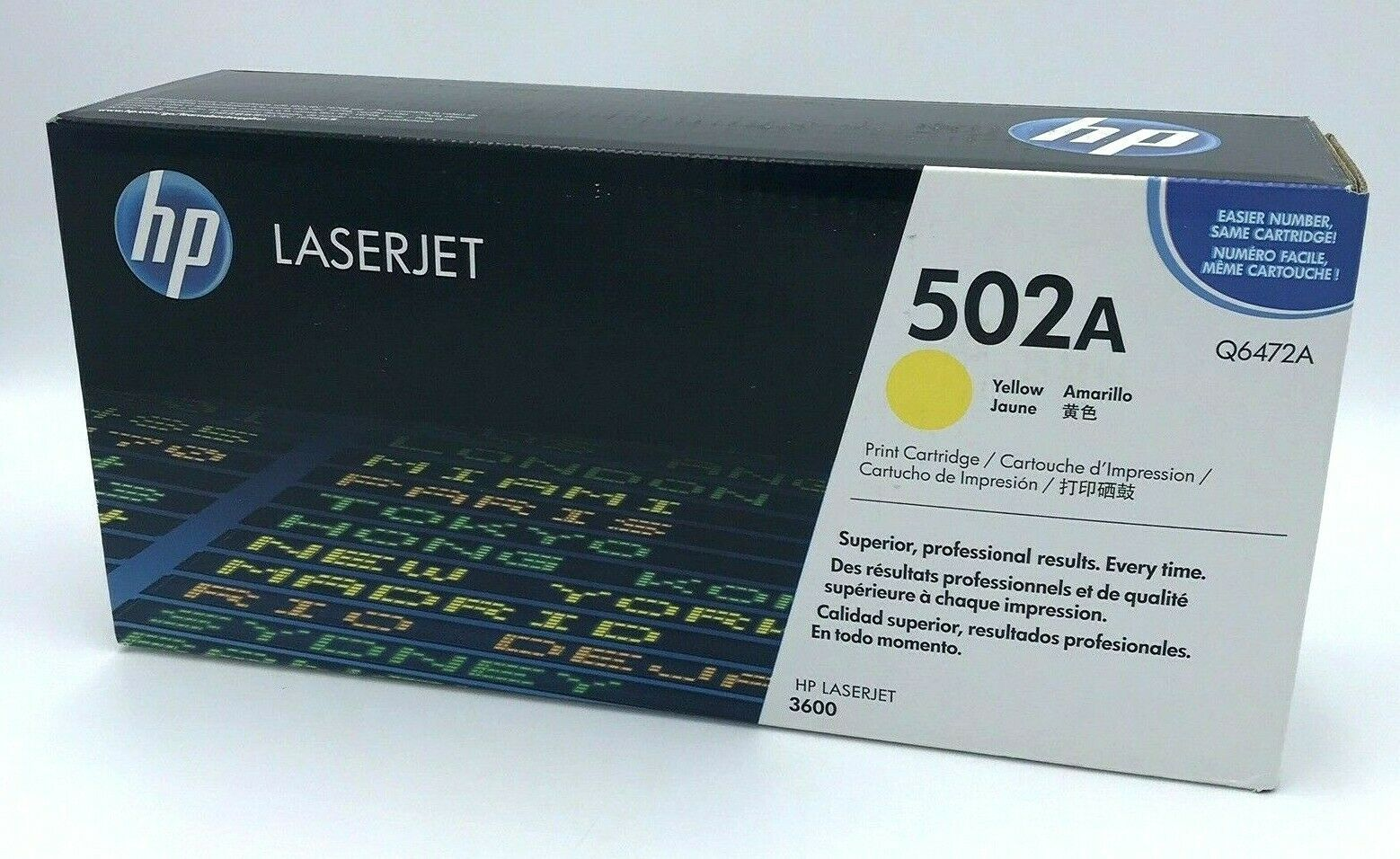 Primary image for HP Laserjet 502A Yellow Q6472A Sealed Genuine