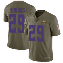 Minnesota Vikings #29 Xavier Rhodes Olive Men's Stitched Limited Jersey  - $54.99