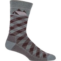 Farm to Feet Men's Franklin Lightweight Crew Socks, Balsam/Brown, Medium - $21.00