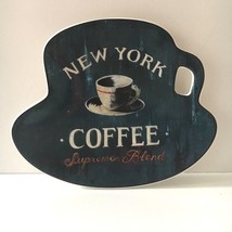 Sakura Coffee Break Plate Blue New York Canape Dessert Appetizer Plate - $11.29