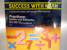 "1983 Atari 800/1200XL ""Success With Math Fractions""  ***NEW*** - $38.00"