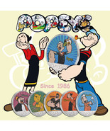 WR Silver Popeye & Friends Colorized 6-Coin Set Sailor Man Cartoon Gifts... - $16.80