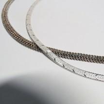2 PC Lot MILOR Danecraft Italy Sterling Silver Herringbone Chain Necklace 28 Grm - $49.50