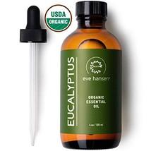 Eve Hansen USDA Certified Organic Eucalyptus Essential Oil 4oz | Topical and Aro