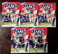 Randy Moss #/99 2019 Panini Chronicles NFL 100 Blue Parallel Thielen Vik... - $6.50
