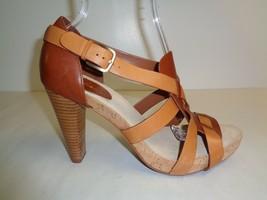 Cole Haan Size 10 M AIR JOCELYN HI Brown Leather Heels Sandals New Women... - $177.21