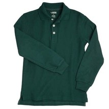 Hunter Green Long Sleeve Polo Shirt 14 Unisex French Toast School Unifor... - $15.81