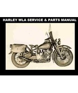 HARLEY DAVIDSON WLA SERVICE & PARTS MANUALs 270pgs with WW2 Motorcycle Repair - $23.99
