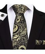 "Classic Extra Long Mens Tie Necktie Hanky Silk N-7523 (8.5""x160"") Multi ... - $17.82"